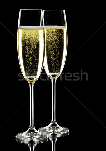 two glasses of sparkling wine Stock photo © yurok