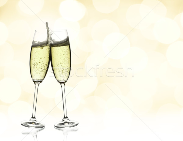 two glasses of champagne Stock photo © yurok