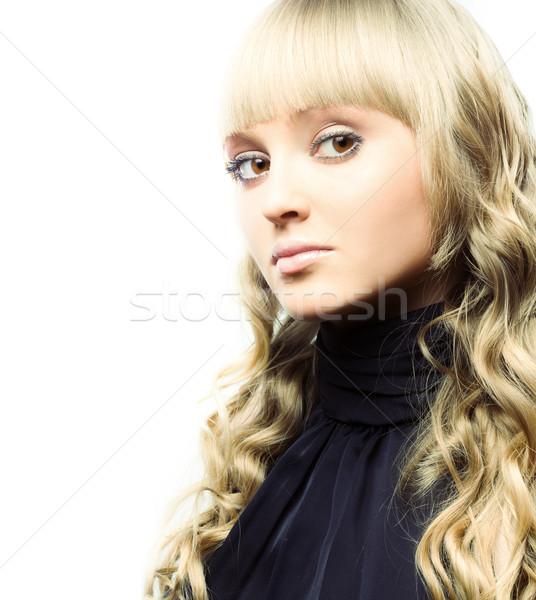 Jonge blond mooie poseren Stockfoto © yurok