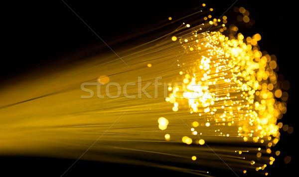 Fibra ottica giallo cavo shot Foto d'archivio © yurok