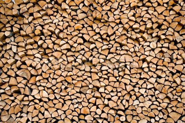 Bois de chauffage résumé texture mur fond Photo stock © yurok