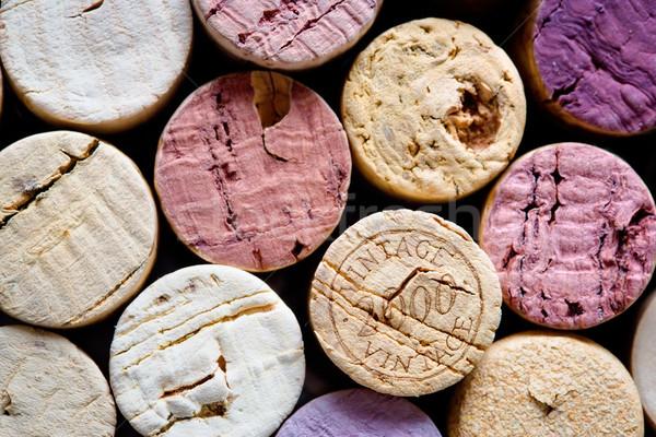 Wein erschossen Gruppe Jahrgang Muster Stock foto © yurok