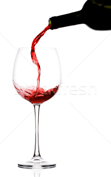 pouring red wine Stock photo © yurok
