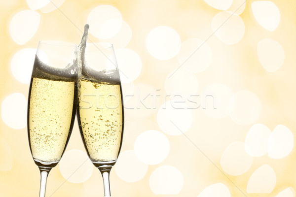 Stock photo: two glasses of champagne