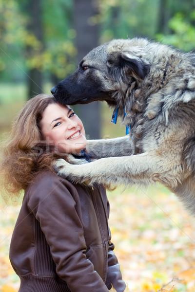 teenager with a dog Stock photo © yurok