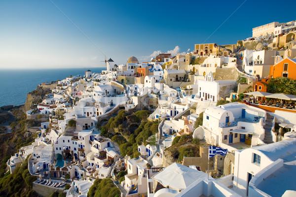 サントリーニ 夏 表示 ギリシャ 人 しない ストックフォト © yurok