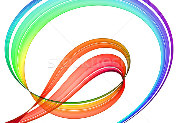 Veelkleurig abstractie witte gerenderd afbeelding textuur Stockfoto © yurok