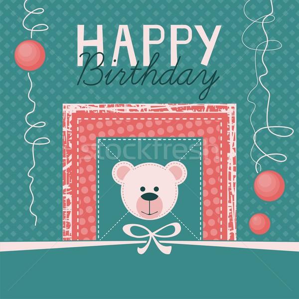 Boldog születésnapot űr gyerek név buli születésnap Stock fotó © yurumi