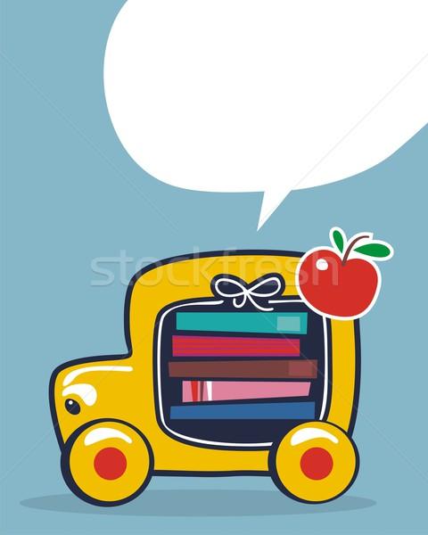 Снова в школу автобус Cartoon школьный автобус автомобилей Сток-фото © yurumi