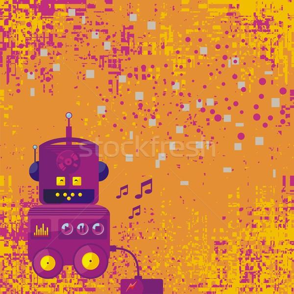 Background With Robot Stock photo © yurumi