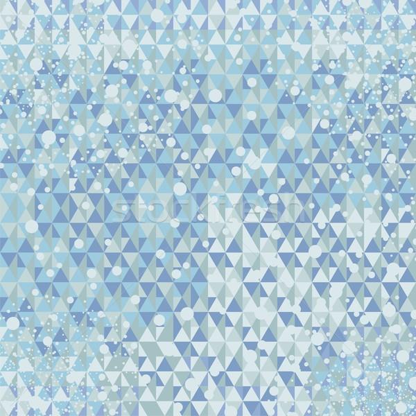 Winter geometric background Stock photo © yurumi