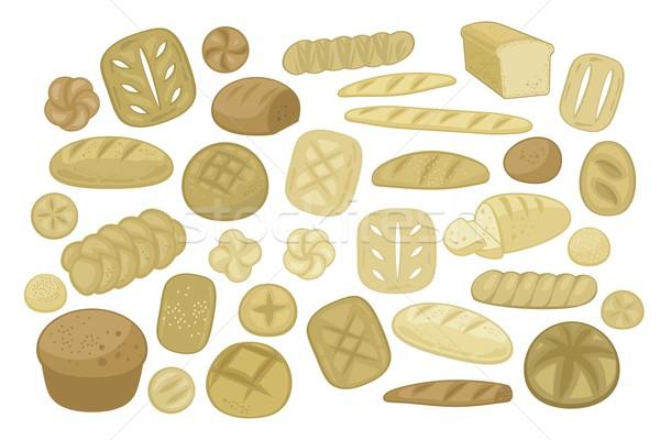 Különböző szett pékség kenyér formák konyha Stock fotó © yurumi