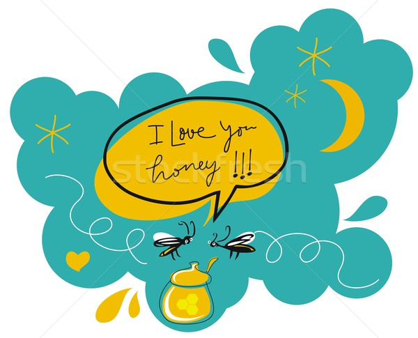 Romantic Flies Stock photo © yurumi