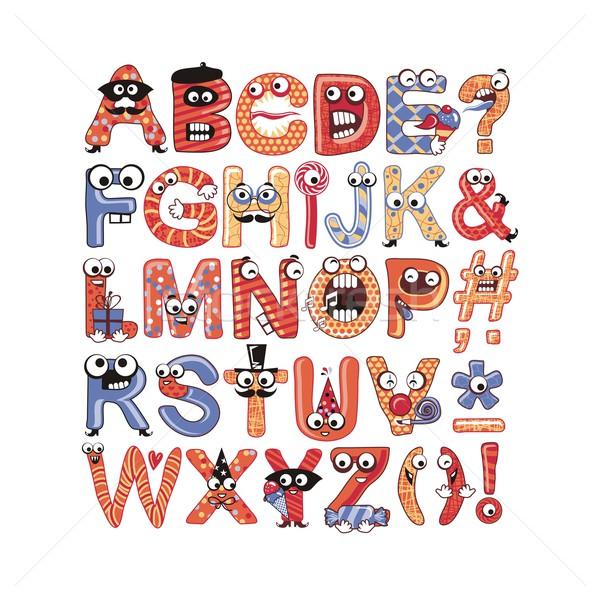 Partij kleurrijk grappig alfabet ingesteld kinderen Stockfoto © yurumi