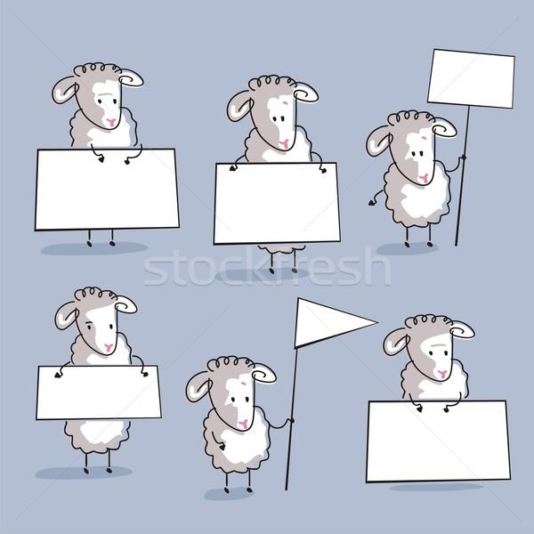 Sheep Set Stock photo © yurumi