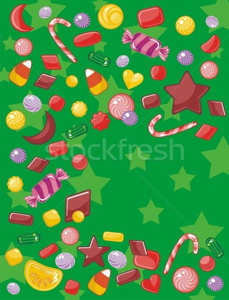 Karácsonyi üdvözlet cukorkák űr étel gyerekek boldog Stock fotó © yurumi