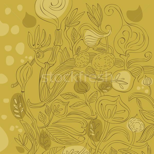 Various Plants Background Stock photo © yurumi