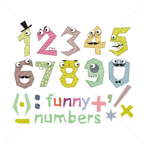 Funny Numbers Set Stock photo © yurumi