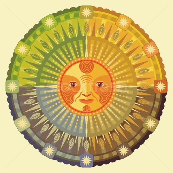 Decorativo ilustración sol verano signo Foto stock © yurumi