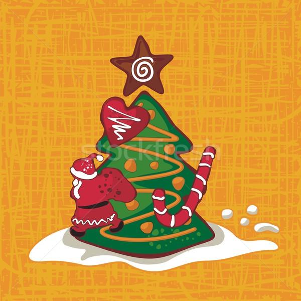 Christmas Gingerbread Background Stock photo © yurumi