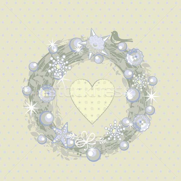 Christmas Wreath Stock photo © yurumi