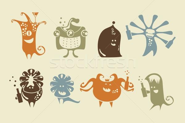 Drunk Happy Monsters Stock photo © yurumi