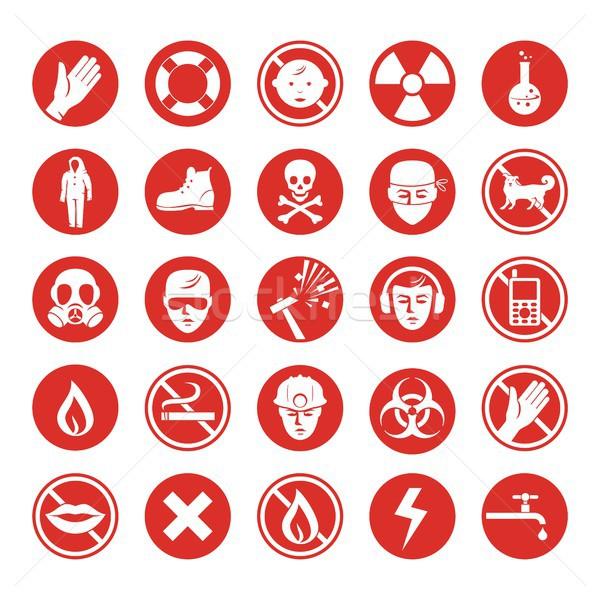 Work protection various icons Stock photo © yurumi