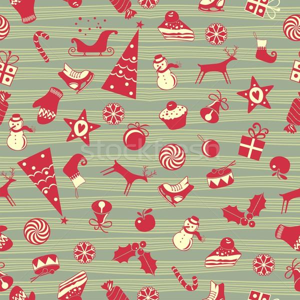 Christmas Seamless Pattern Stock photo © yurumi