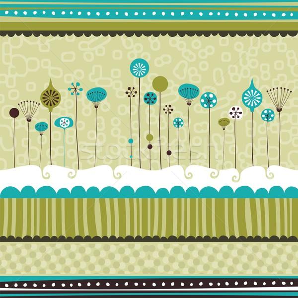 Decoratief seizoen- texturen communie ontwerp sneeuw Stockfoto © yurumi