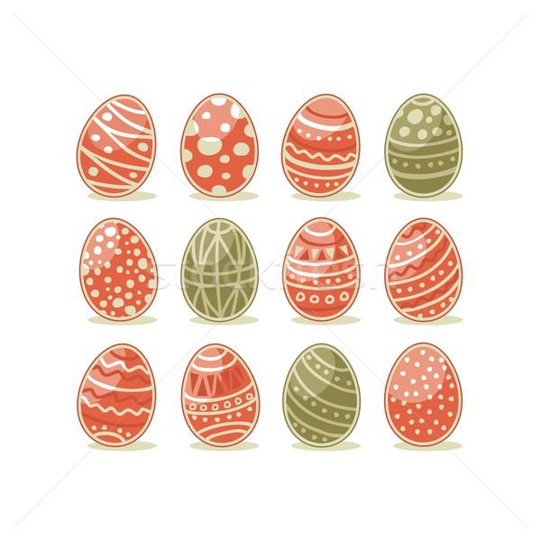 Painted Easter Eggs Stock photo © yurumi