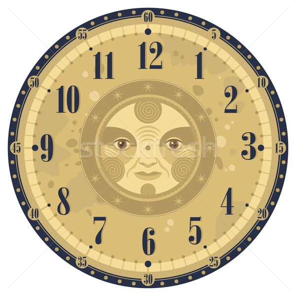 Vintage Clock Face Stock photo © yurumi