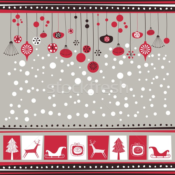 Decorative Winter Background Stock photo © yurumi