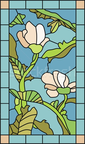 Floral Stained Glass Stock photo © yurumi
