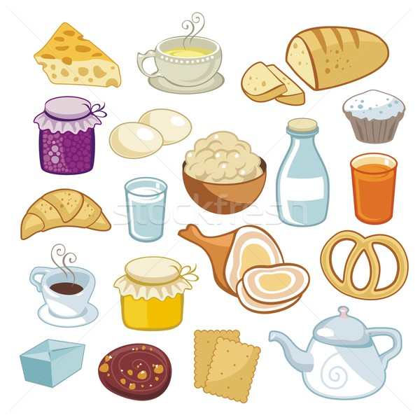 Breakfast Set Stock photo © yurumi