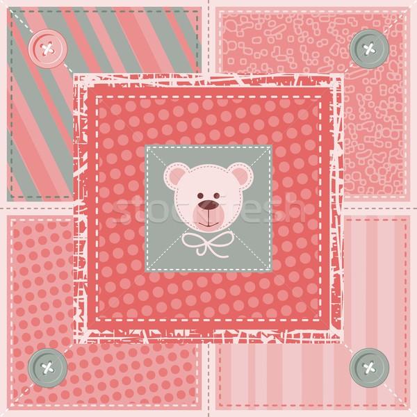 Cute Quilt Background Stock photo © yurumi