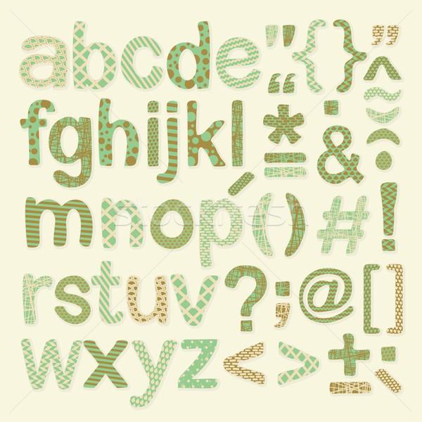 Textured Alphabet Set Stock photo © yurumi