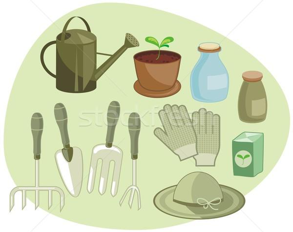 Gardening Set Stock photo © yurumi