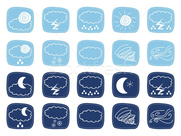 Weather Icons Stock photo © yurumi