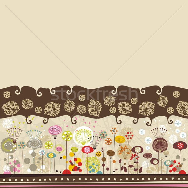 Decorative Floral Background Stock photo © yurumi