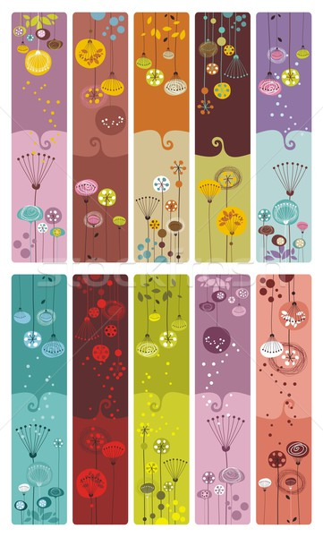 Stock photo: Floral Bookmarks