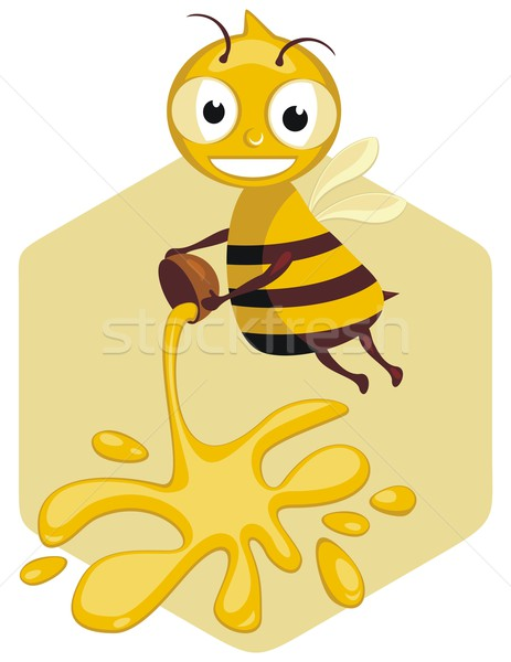 Abeille cartoon travailleur heureux miel sweet Photo stock © yurumi