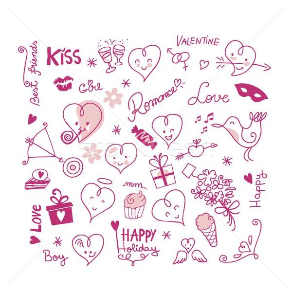 Valentine Cute Elements Stock photo © yurumi