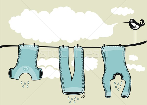 Drying Clothes Background Stock photo © yurumi