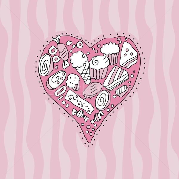 Doodle Heart Stock photo © yurumi
