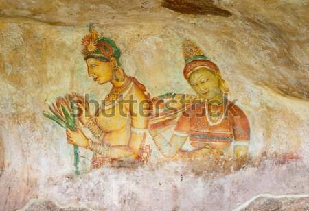 Sigiriya Fresco Stock photo © zambezi