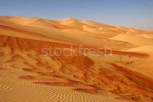 üres negyed absztrakt minták Omán Szaúd-Arábia Stock fotó © zambezi