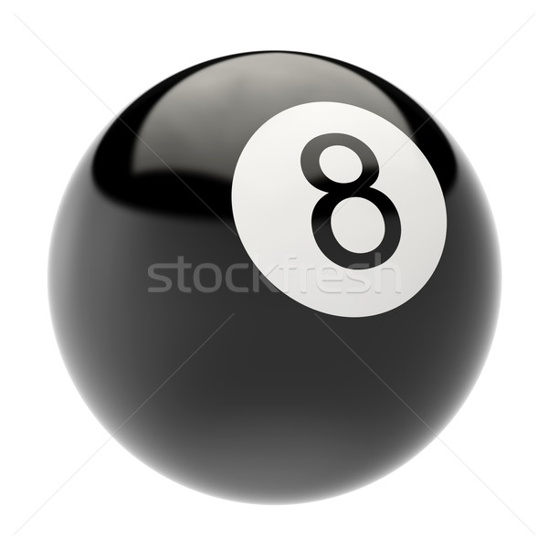 ビリヤード ボール 孤立した 白 3次元の図 高い ストックフォト © ZARost