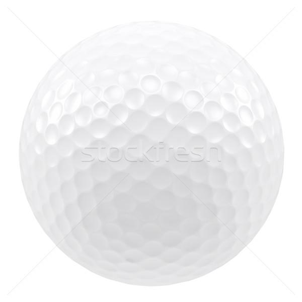 Golf topu yalıtılmış beyaz 3d illustration yüksek karar Stok fotoğraf © ZARost