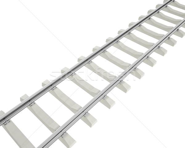 Illustration railway isolated on white background. Stock photo © ZARost