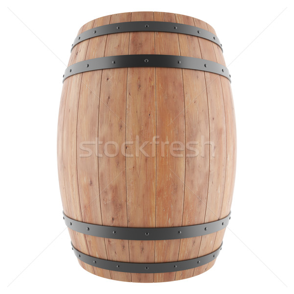 Wine, whiskey, rum, beer, barrel isolated on a white background. Stock photo © ZARost
